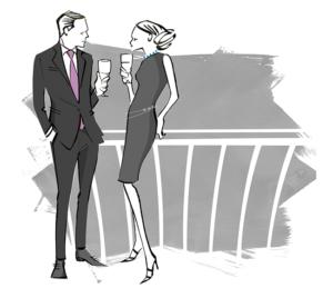 Mens suit illustration for Men's fashion magazine