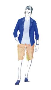 Illustration for Men's fashion project